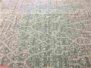 A large Transitional contemporary handwoven Rug