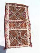 Antique Persian Kurdish Saddle Bag wall Hanging 14x25