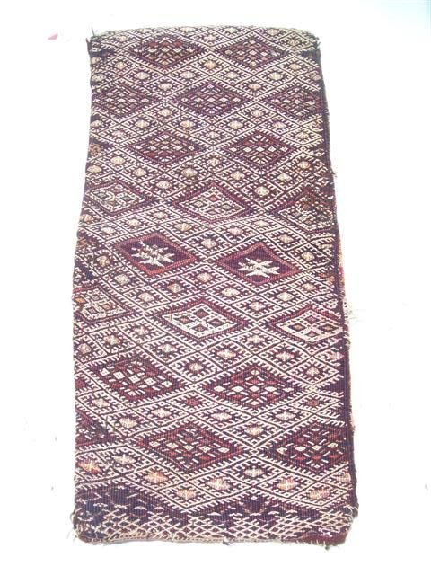 Antique Kurdish Saddle bag wall hanging 14 x 29