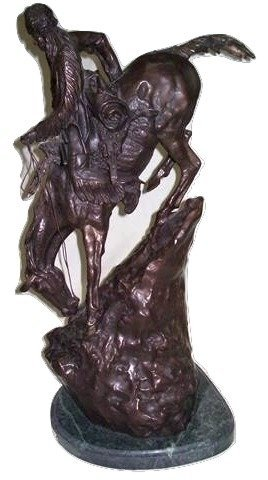 After Frederic Remington Bronze The Mountain Man