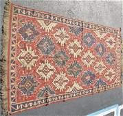 ANTIQUE CAUCASIAN Kuba KUBA kilim flat woven RUG
