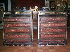 Important Antique Chinese Wedding Dowry Boxes & Carrier