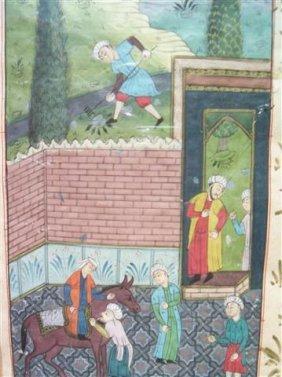Persian Miniature Painting - 19th Century