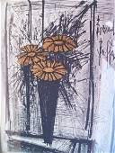 A small Bernard Buffet Flowers lithograph