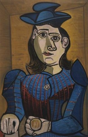 Large Print After Pablo Picasso Femme Assise Dora Marr