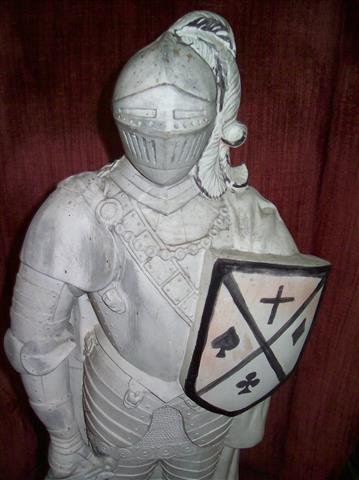 """A plaster Knight Statue 22"""" inches tall - 3"""