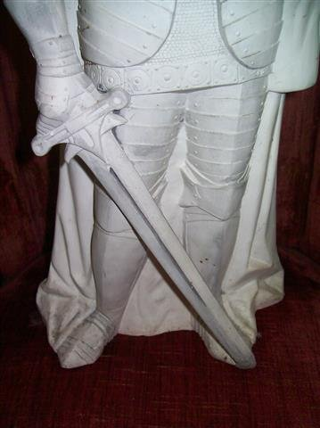 """A plaster Knight Statue 22"""" inches tall - 4"""