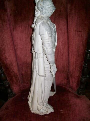 """A plaster Knight Statue 22"""" inches tall - 5"""