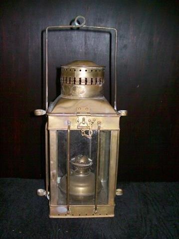 Vintage Viking Brass Hanging Nautical Ship Oil Lamp - 10