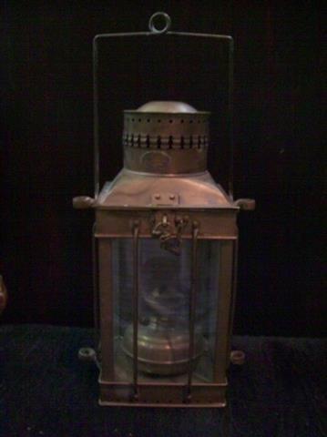 Vintage Viking Brass Hanging Nautical Ship Oil Lamp - 2