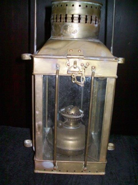 Vintage Viking Brass Hanging Nautical Ship Oil Lamp - 3
