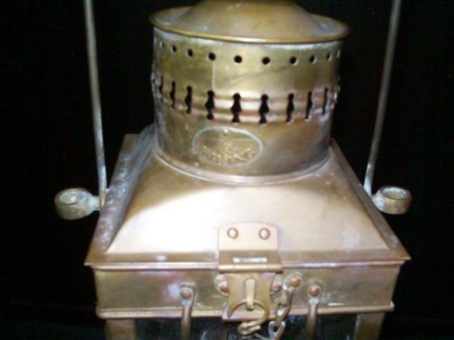 Vintage Viking Brass Hanging Nautical Ship Oil Lamp - 4