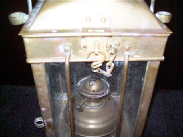 Vintage Viking Brass Hanging Nautical Ship Oil Lamp - 5