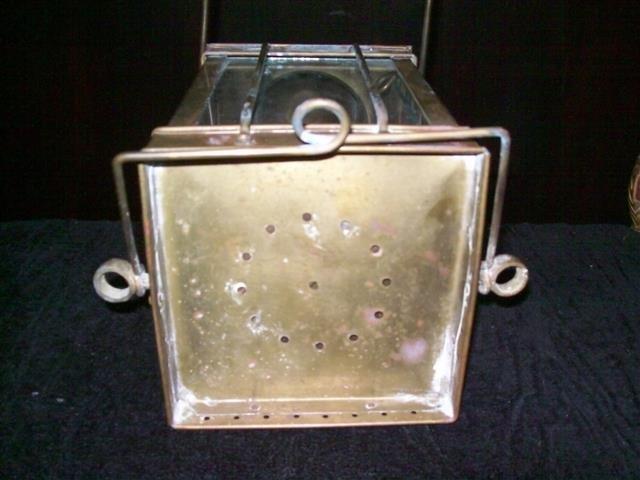 Vintage Viking Brass Hanging Nautical Ship Oil Lamp - 7