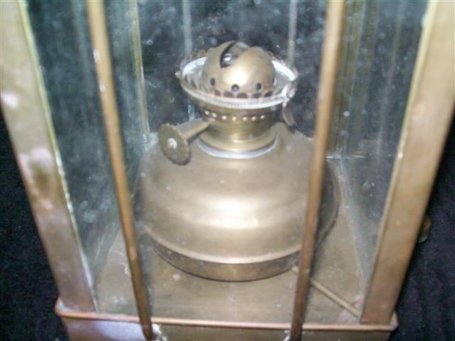 Vintage Viking Brass Hanging Nautical Ship Oil Lamp - 8