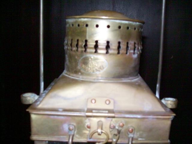 Vintage Viking Brass Hanging Nautical Ship Oil Lamp - 9