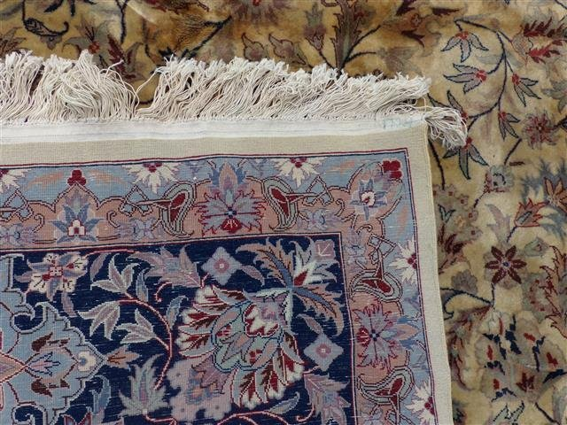 A handwoven Kashan design used oriental rug 8-3 by 10-2 - 10