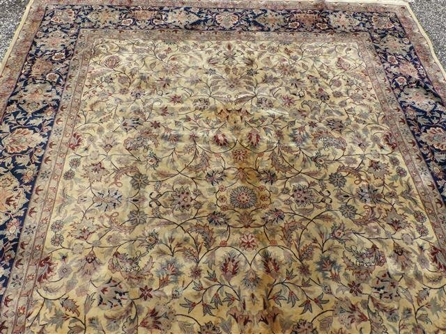 A handwoven Kashan design used oriental rug 8-3 by 10-2 - 4