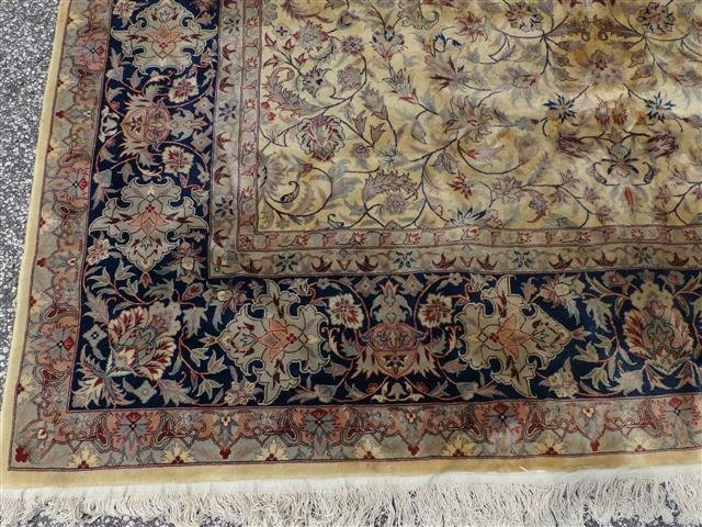 A handwoven Kashan design used oriental rug 8-3 by 10-2 - 5