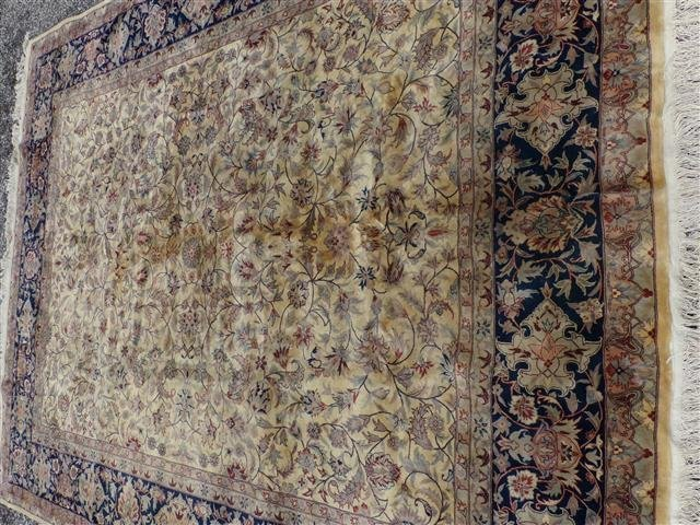 A handwoven Kashan design used oriental rug 8-3 by 10-2 - 6