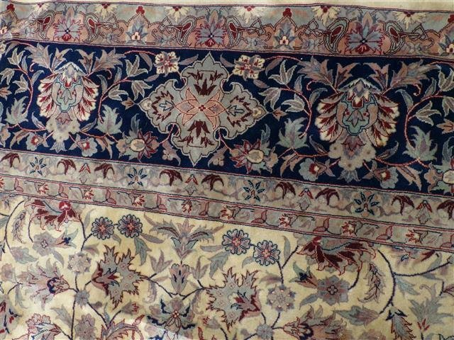 A handwoven Kashan design used oriental rug 8-3 by 10-2 - 8