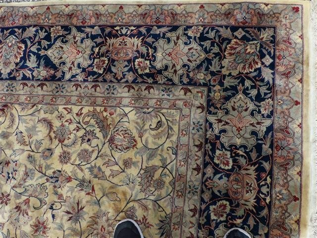 A handwoven Kashan design used oriental rug 8-3 by 10-2 - 9