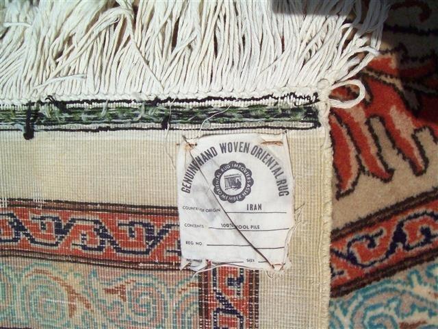 Persian TABRIZ vintage handwoven rug - 10