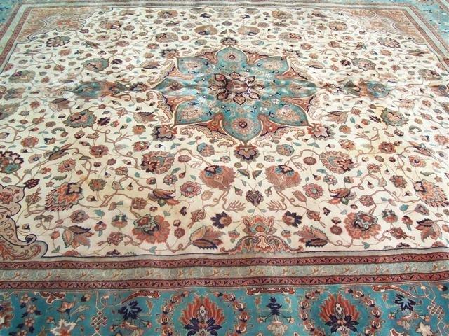 Persian TABRIZ vintage handwoven rug