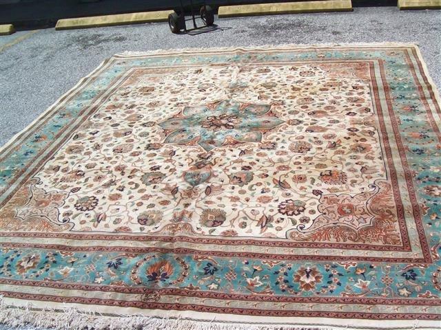 Persian TABRIZ vintage handwoven rug - 3