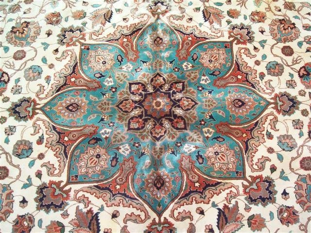 Persian TABRIZ vintage handwoven rug - 4