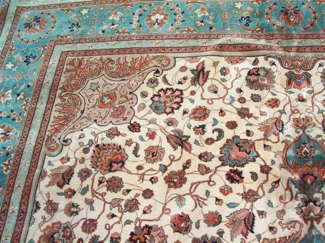 Persian TABRIZ vintage handwoven rug - 6