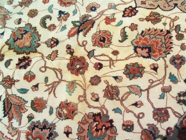 Persian TABRIZ vintage handwoven rug - 7