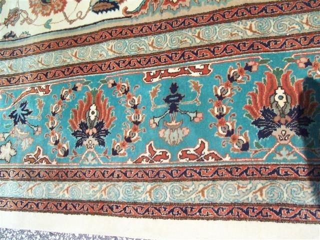 Persian TABRIZ vintage handwoven rug - 8