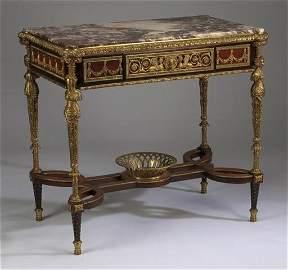 Adam Weisweiller style ormolu mounted center table