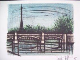 Bernard Buffet lithograph- Eiffel Tower