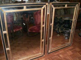 """Pair of large Empire style Antique Mirrors 33"""" by 47"""""""