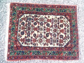 Antique Persian Kurdish Senneh rug