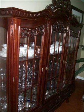 A vintage China Cabinet , breakfront