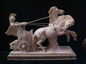 A Santini Italian sculpture of Ben hur