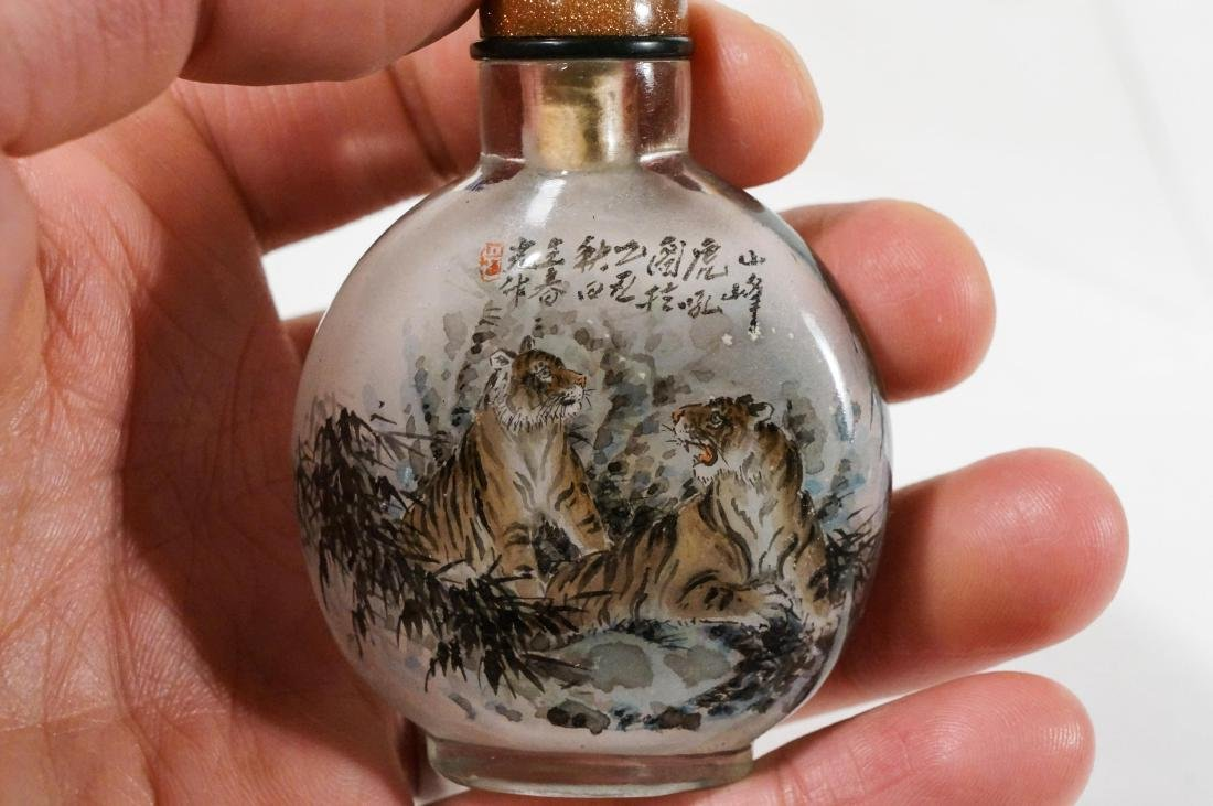 CHINESE INTERIOR PAINTED SNUFF BOTTLE - 5