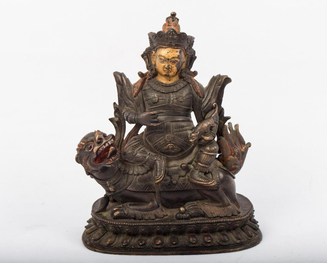 CHINESE QING DYNASTY BRONZE FIGURE OF JAMBHALA