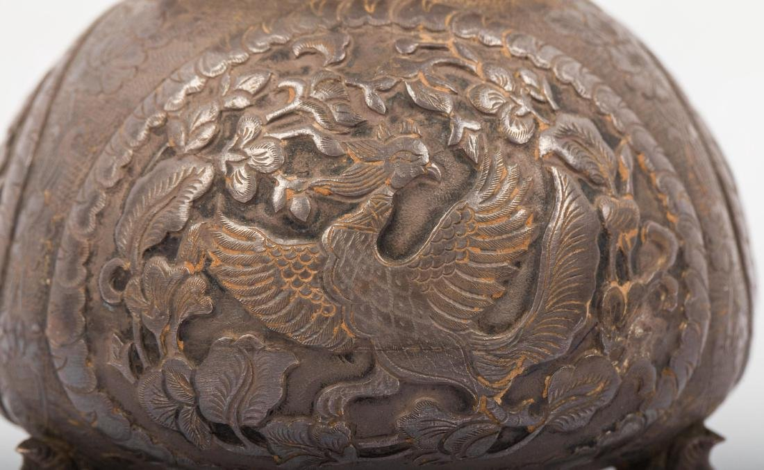 CHINESE SILVER COVER JAR - 3