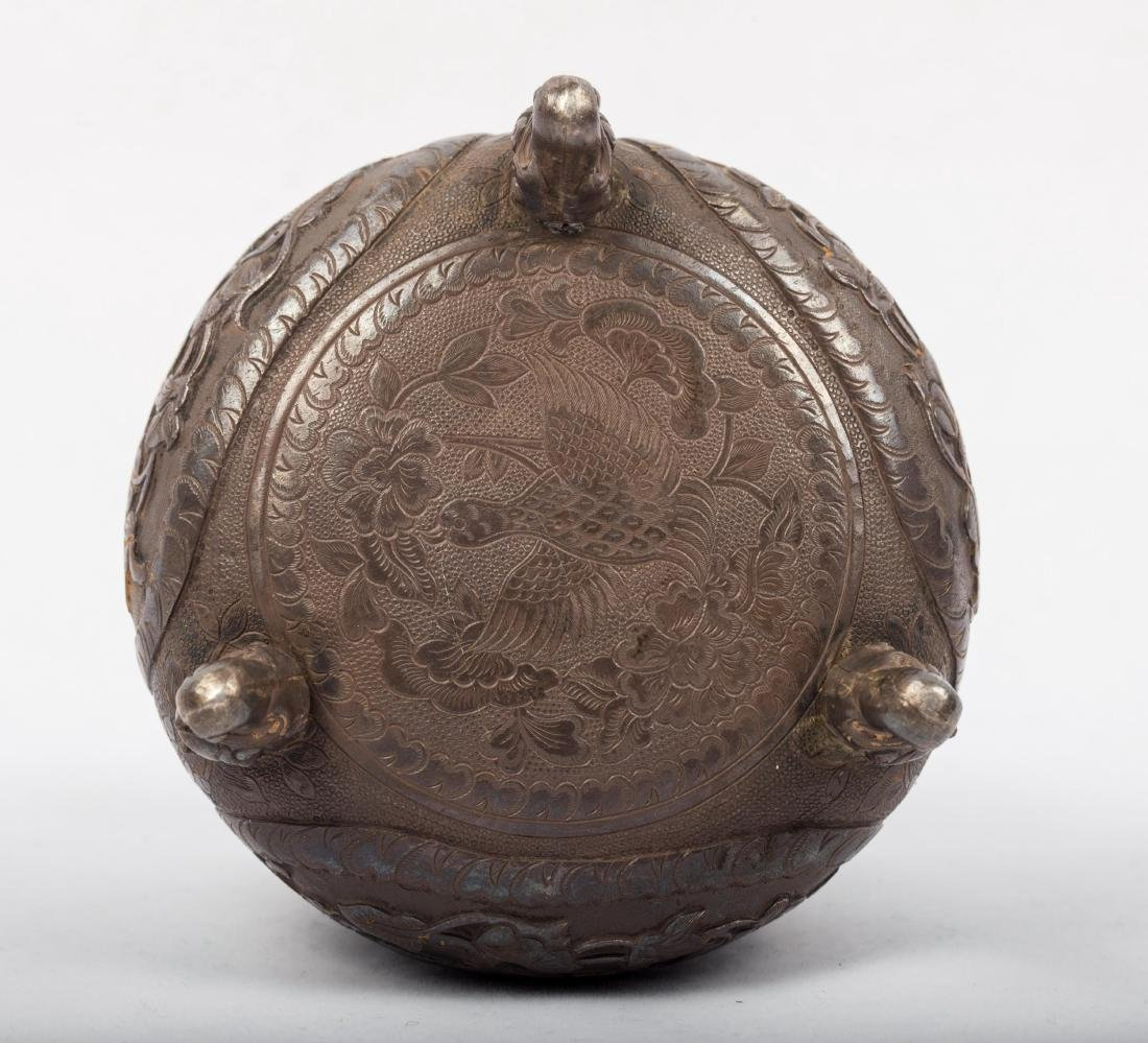 CHINESE SILVER COVER JAR - 6