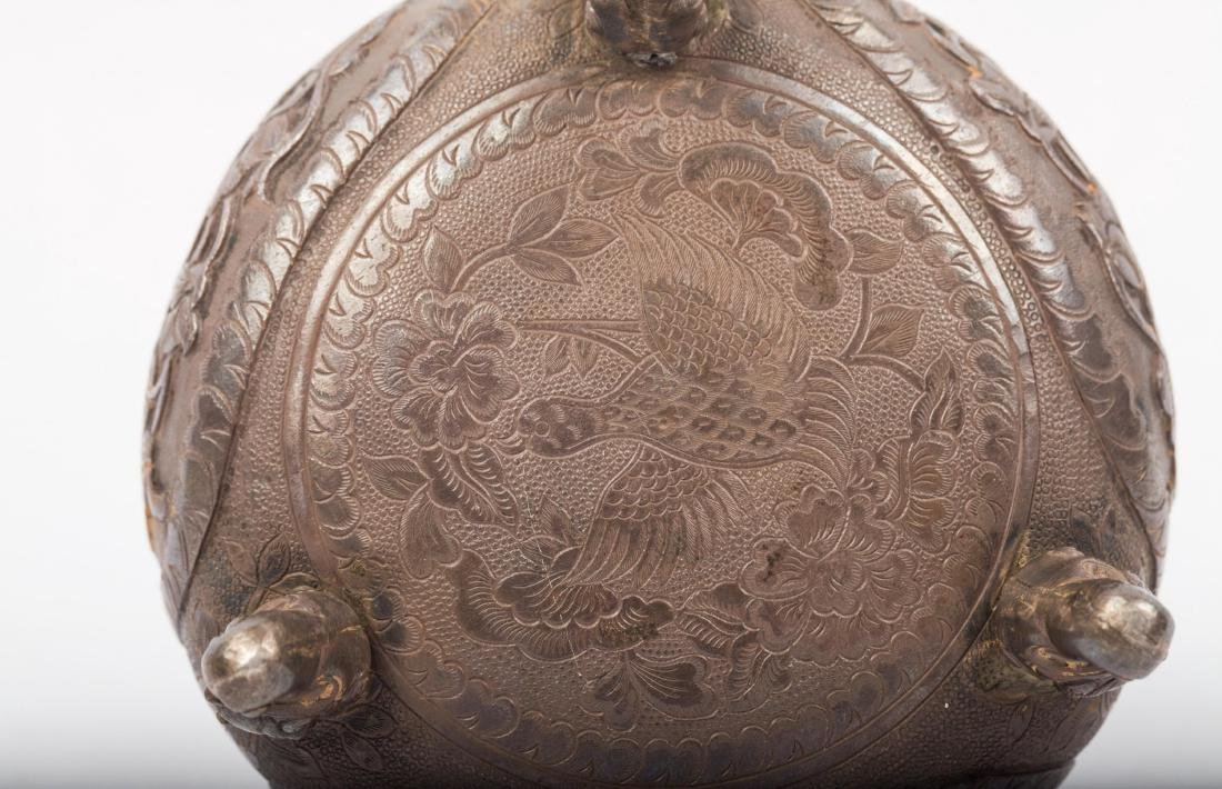 CHINESE SILVER COVER JAR - 8