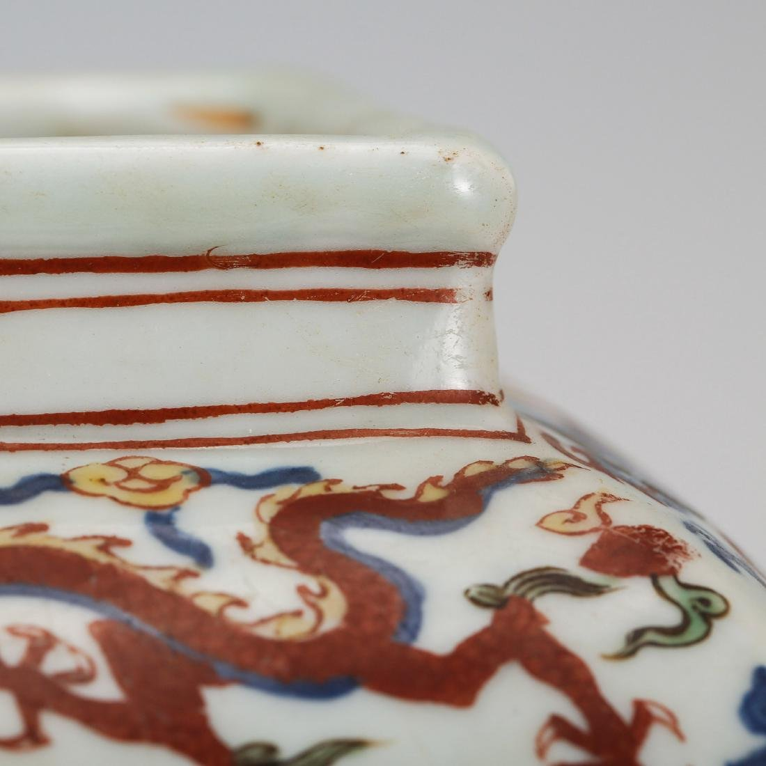 CHINESE MING DYNASTY WUCAI PORCELAIN JAR - 5
