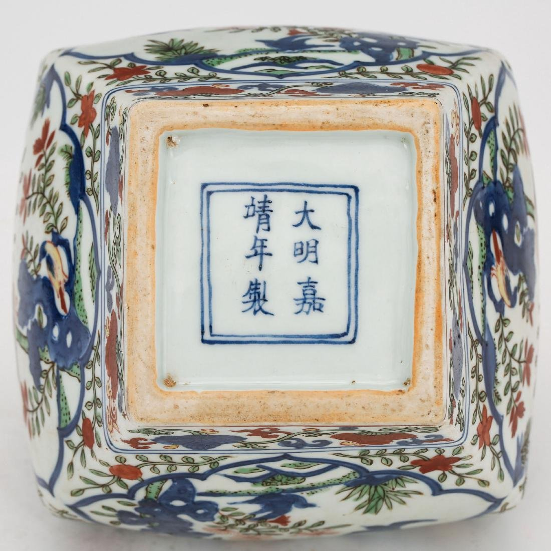 CHINESE MING DYNASTY WUCAI PORCELAIN JAR - 7
