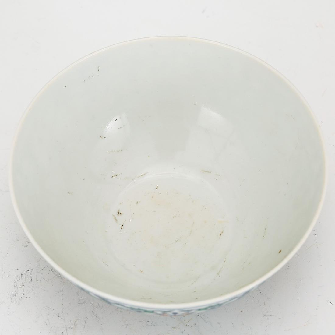 CHINESE QING DYNASTY DOUCAI PORCELAIN FOLIAGE BOWL - 2