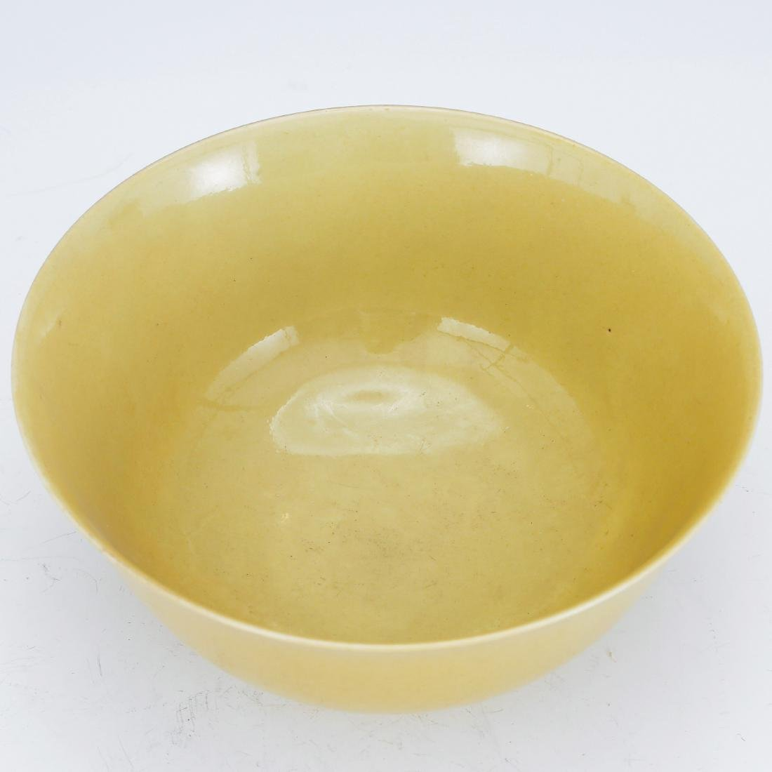 CHINESE YELLOW GLAZED BOWL, MING DYNASTY - 2