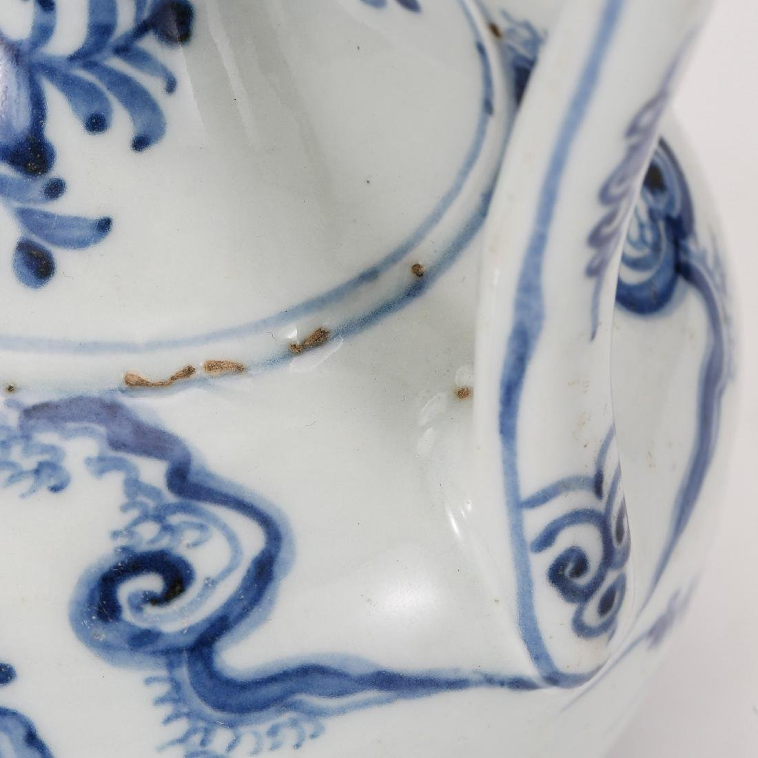 CHINESE BLUE AND WHITE PORCELAIN WINE EWER - 7