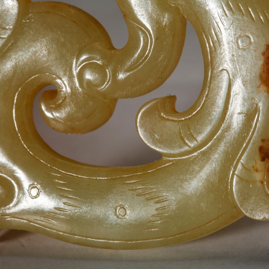 CHINESE ARCHAIC JADE PENDANT, HAN DYNASTY - 6